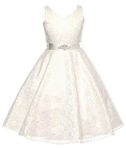 DressForLess Lovely Lace V-Neck Flower Girl Dress , Ivory, 6 DressForLess http://www.amazon.com/dp/B00MOP2F5C/ref=cm_sw_r_pi_dp_ce0bvb0FDT8YN