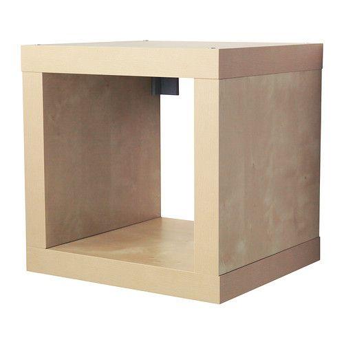 IKEA - KALLAX, Regal, Birkenachbildung, , Kann je nach Bedarf an der Wand befestigt oder auf den Boden gestellt werden.