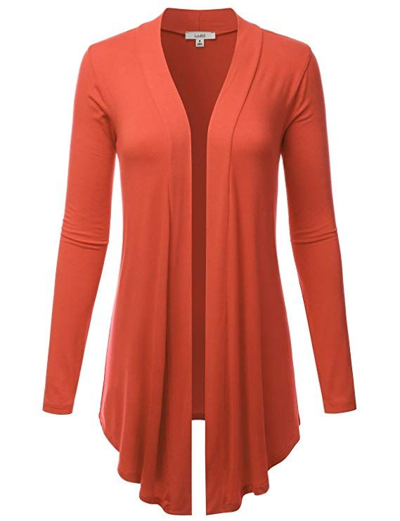 834317537d LALABEE Women s Draped Open-Front Long Sleeve Light Weight Cardigan at Amazon  Women s Clothing store