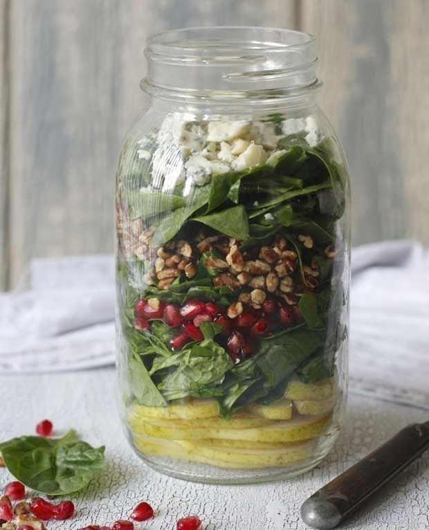 14 receitas de salada no pote, experimente                                                                                                                                                                                 Mais