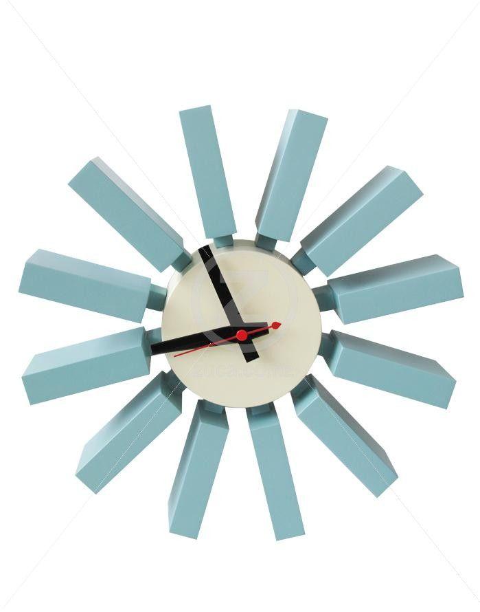 Replica George Nelson Block Clock - Blue | ZUCA | Homeware, Chairs, Replica…