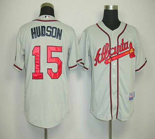 28edcd7ae0e Atlanta Braves 15 Tim Hudson Grey Road Cool Base Jersey ...