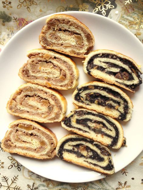 Hungarian Beigli is a traditional walnut and poppy seed roll which is served in many Hungarian families at Christmas as a special treat. The Christmas meal table would be incomplete without these rolls. Here is my recipe:Recipe