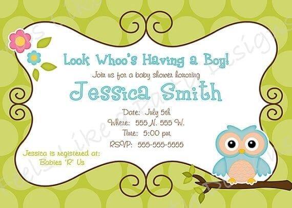 Surprise Polka Dot Blue Owl Baby Shower Invitation Baby Shower Packages Baby Owl Owl Theme Baby Boy Polka Dot Surprise Shower