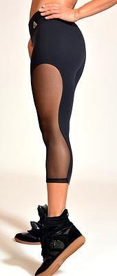 Up Vibe Hot Mesh Capris | New Arrivals | Yaninas Sportswear