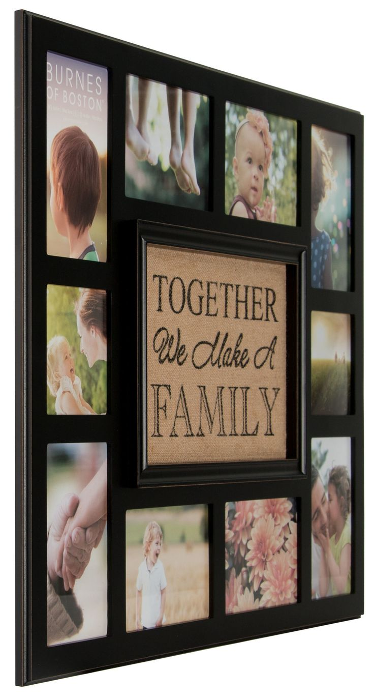 Burnes of Boston Burlap Together We Make a Family Picture Frame