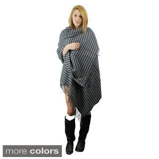 Shop for Le Nom Houndstooth Woven Wrap