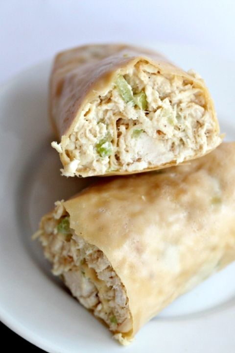 Paleo Chicken Salad Wraps. Delicious. I skipped the wrap and just ate the chicken salad with a fork. The mayo was super easy to make. I used leftover grilled chicken and added hard boiled eggs. -an