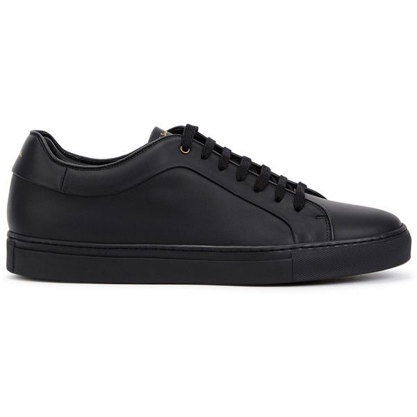 Paul Smith Basso black matte leather trainers (916.710 COP) ❤ liked on Polyvore featuring men's fashion, men's shoes, men's sneakers, mens black sneakers, paul smith mens shoes, mens black leather sneakers, mens leather lace up shoes and mens leather sneakers