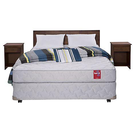 Rosen Cama Americana Beat 2 Plazas Base Normal + Muebles + Textil - Falabella.com