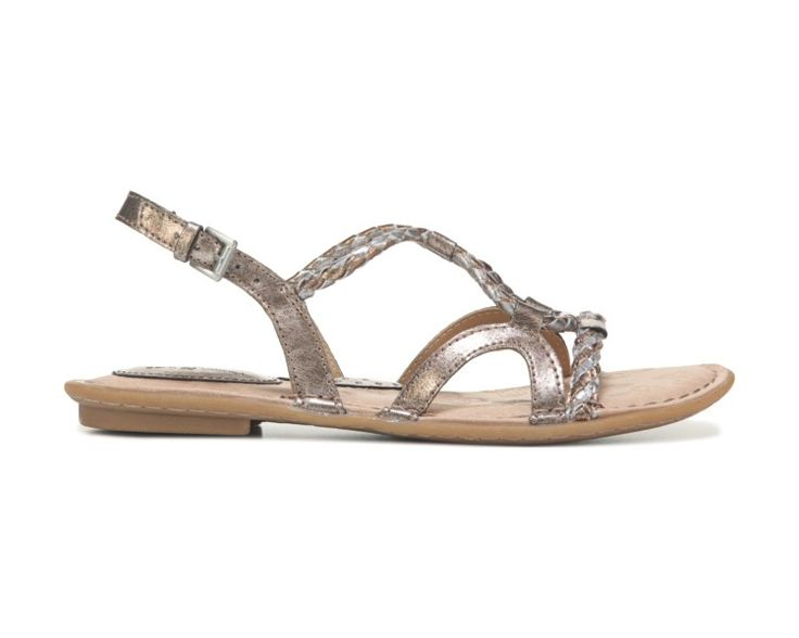Show off in the Pandy Sandal from B.O.C.Faux leather upper in a flat sandal style with an open toeBraided strap detailingHeel sling strap with adjustable buckleSmooth lining, cushioning insoleTraction outsole