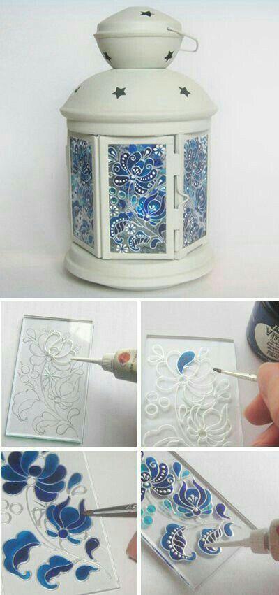 Glass art lamp