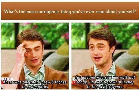 This is why I love Daniel Radcliffe. LOL