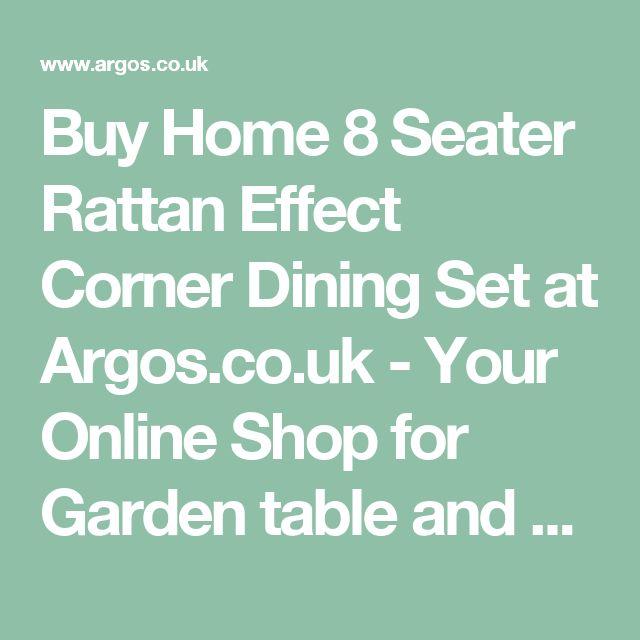 Buy Home 8 Seater Rattan Effect Corner Dining Set at Argos.co.uk -