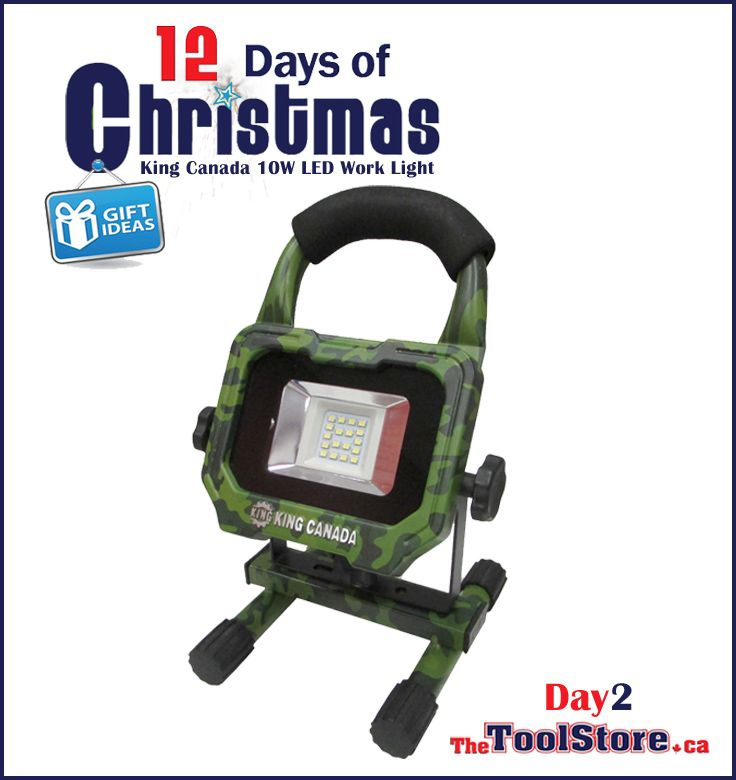 #12DaysofChristmas from @onlinetoolstore - DAY2 - King Canada KC-1202LED-C 1200-lumen Camo LED Work Light with 3 light settings.