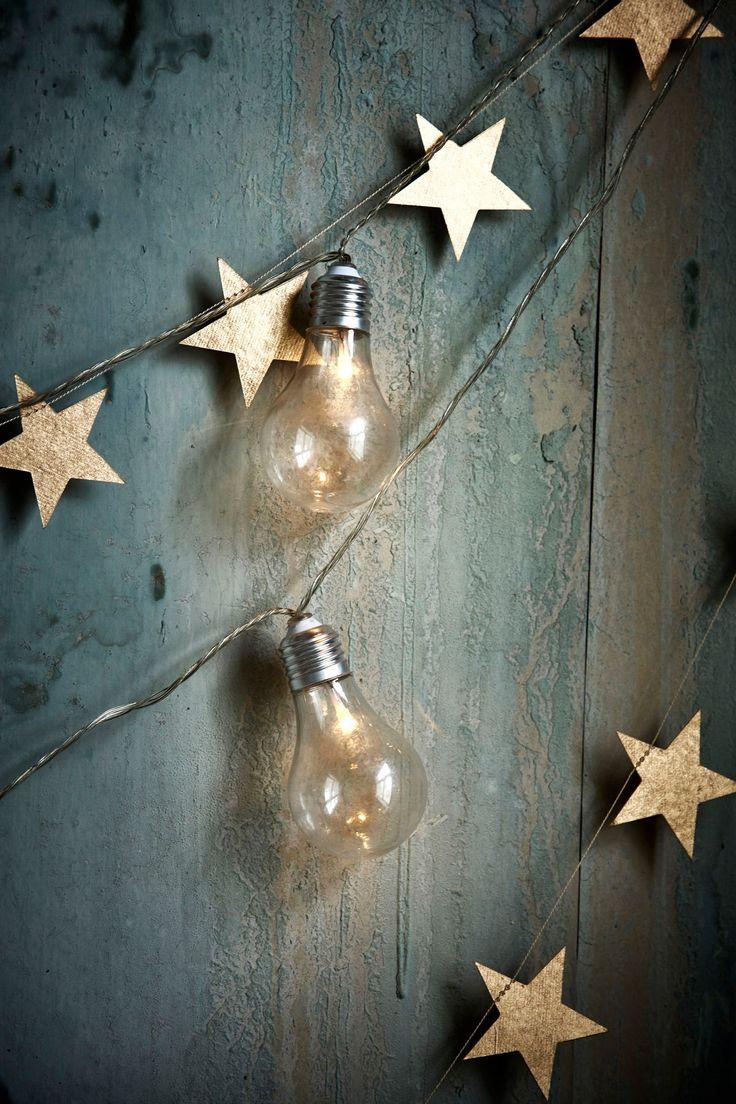 Christmas star garland.