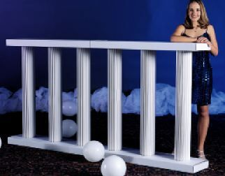 This White Balustrade is a classy yet understated way to partition a room or just add an elegant touch.