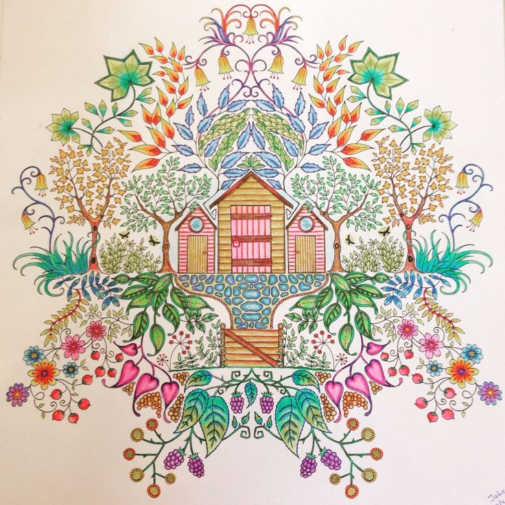 Secret Garden Colouring Book By Johanna Basford Art Hobby