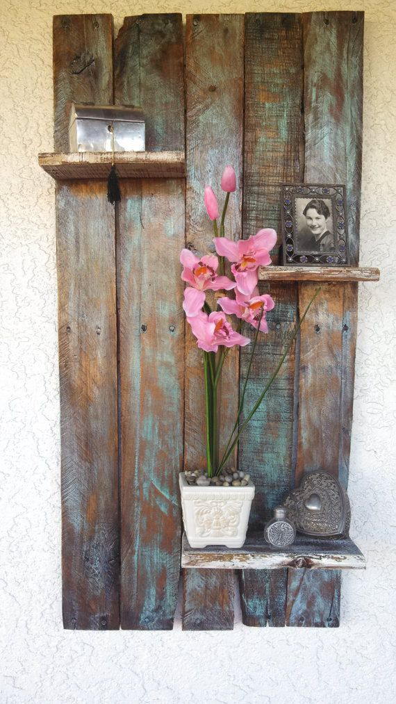rustic/country floating pallet shelf by upCycledreCreations