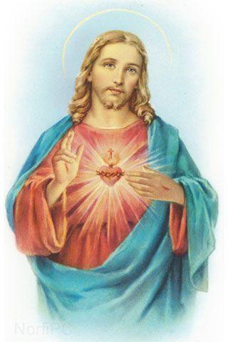 #FondosDePantalla #Cristianos para el teléfono celular Pintura del Sagrado corazón de Jesús: