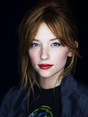 bold lipstick.