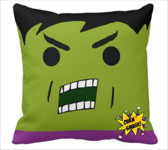 Personalized Incredible Hulk Inspired Pillow by MamaGooseBoutique, $32.99