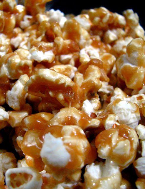 Maïs soufflé au caramel au beurre