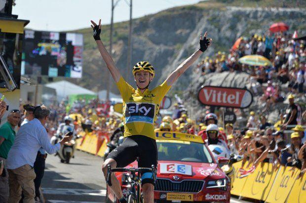 Stage 10 winner Chris Froome. Tarbes to La Pierre-Saint-Martin.