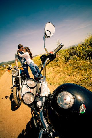 Motorcycle engagement - we could have both bikes then...