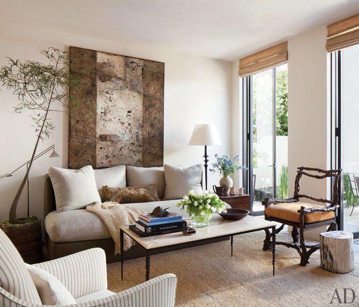 living room by designers in malibu california