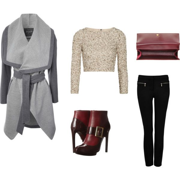 """grey coat # version 2"" by inainthecity on Polyvore"