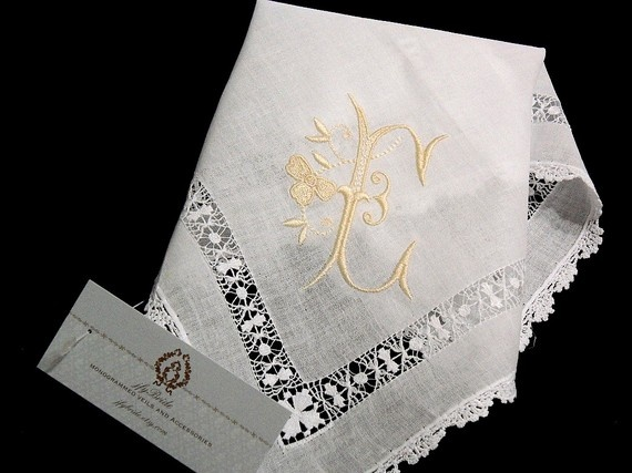 Irish Linen Wedding Handkerchief