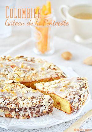 Le gâteau d'un jour, qui ne se déguste que pour Pentecôte… Le Colombier, gâteau Marseillais qui daterait du début des années 1900. Et que plein de Marseillaise ne connaissent pas car peu de pâtisseries perpétuent la tradition.  C'est un gâteau un peu riche… Surtout en saveurs ! Il a un petit goût de calisson grâce à ces ingrédients : amande, melon et abricot confit. J'en suis totalement addict !