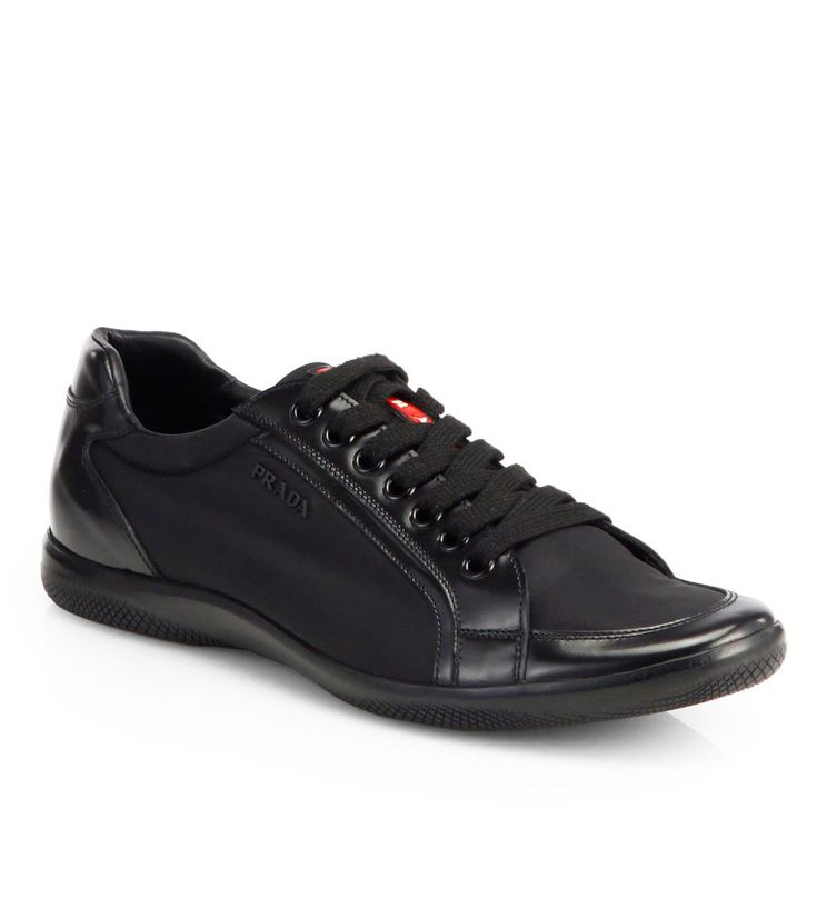 Prada Nylon Laced Sneakers Black             $119.00