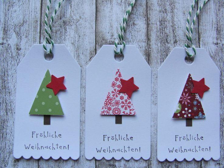 """Geschenkanhänger """"Fröhliche Weihnachten"""" von Mein Kartengarten auf DaWanda.com"""