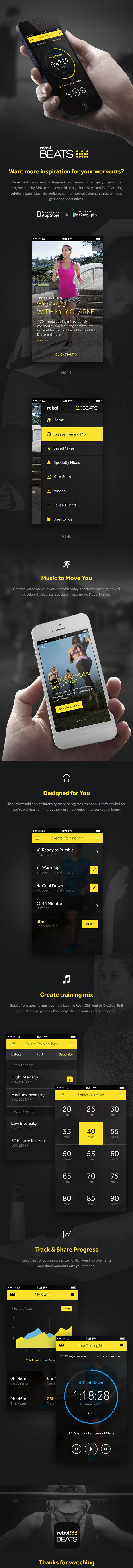 Rebel Beats App by igloo, via Behance