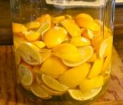 Next time I have a windfall of lemons, I'm making Limoncello - reminds me of Italy. From http://www.blogher.com/how-make-limoncello