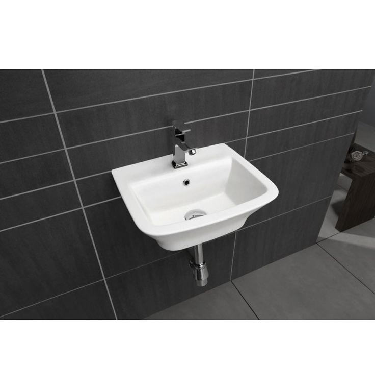Soncera Swiss Wall Mounted Basin Of 410 X 335 X 170 MM In White