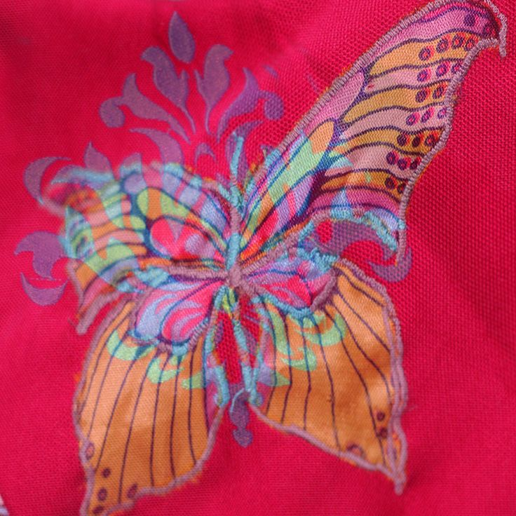 casual bag BOHO EVE, embroidery BUTTERFLY SIGN