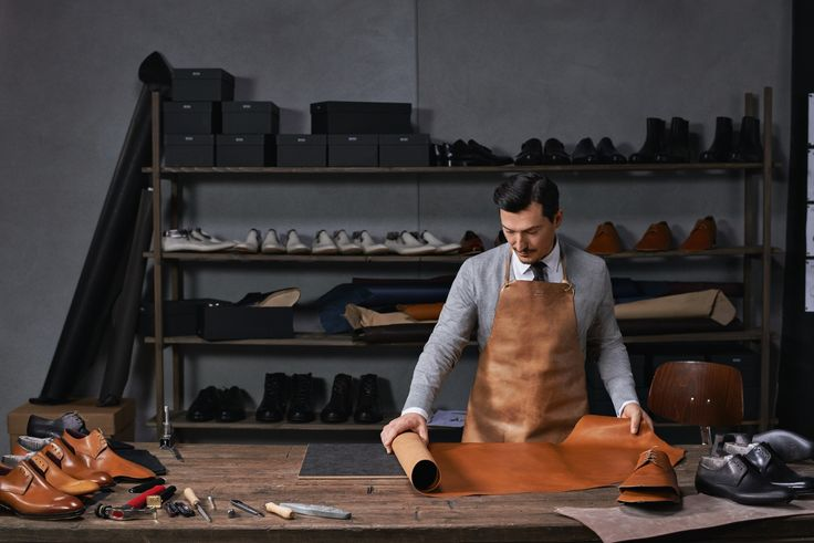 Fine leather is used to craft BOSS Tailored shoes