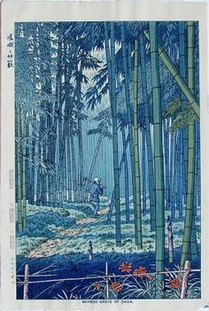 Takeji Asano - Bamboo Grove of Saga, 1952