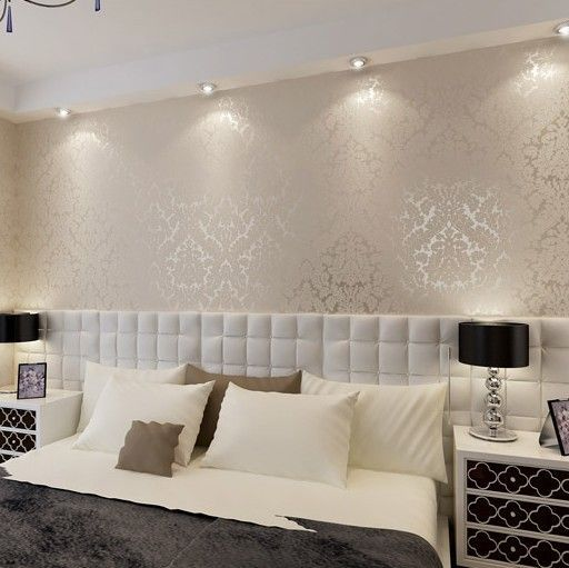 European Vintage Luxury Damask Wall paper PVC Embossed Textured Wallpaper Rolls Home Decoration Gold Silver White R61
