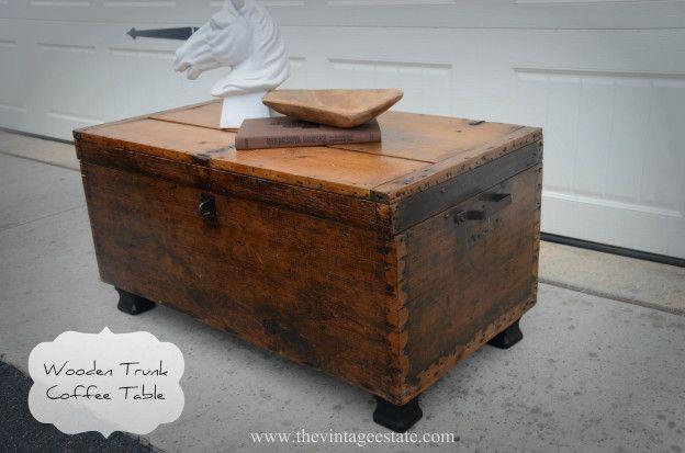 wooden trunk coffee table diy pinterest wooden