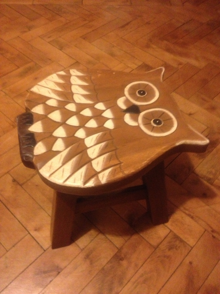 Wooden Owl step/stool