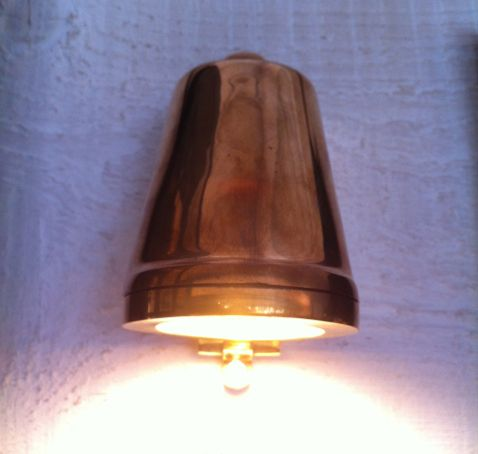 koperen wand lamp €400