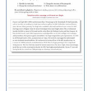 Paraphrasing practice paragraphs