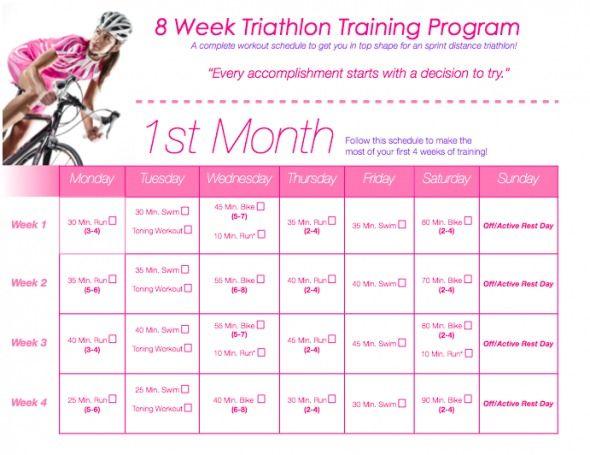 TIU Triathlon Training!!!! Calendar & Workout | ToneItUp.com
