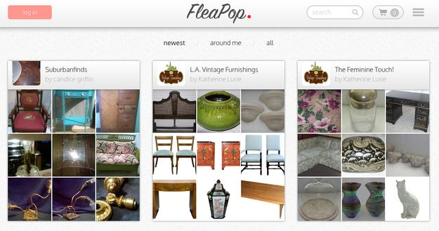 """FleaPop: FleaPop is an online market for both used and new furniture. Sellers can create """"shops"""" for free, similar to Etsy, and FleaPop charges a 6% commission. Buyers can shop by item, location or style and payment is taken through the website with Paypal. Best for: If you like flea markets but don't like crowds."""