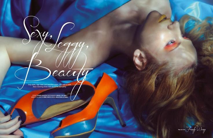 Sexy, Leggy, Beauty  (Weddingku June – August 2012), Photographer : Mario The Nine, Stylist : Dhani Agustia, Make Up & Hair Do : Mimi Kwok, Model : Anastasia
