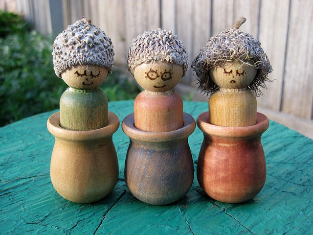 Happy Whimsical Hearts: Autumn peg dolls